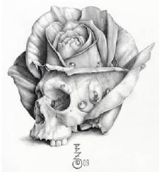 """Skull Rose"" by Bret Zarro 2009"